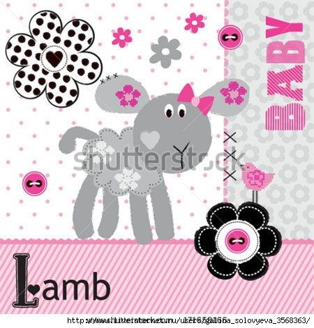 stock-vector-baby-lamb-and-bird-vector-illustration-171658166 (450x470, 138Kb)
