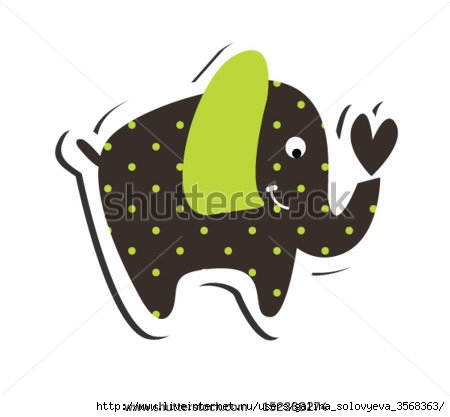 stock-vector--cute-elephant-152368274 (450x417, 50Kb)