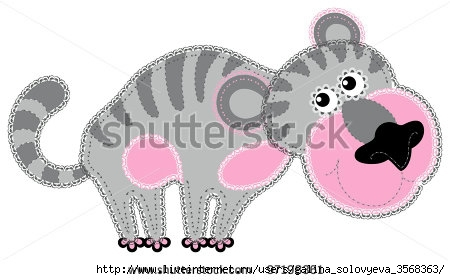 stock-vector-fabric-animal-cutout-tiger-cute-animal-character-in-decorative-style-on-white-background-97198361 (450x280, 70Kb)
