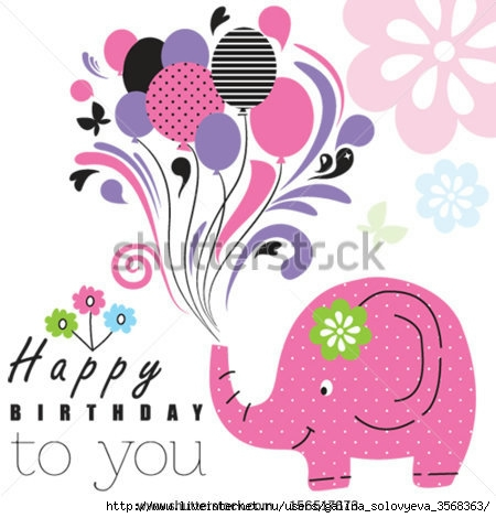 stock-vector-happy-birthday-elephant-vector-156517673 (450x470, 109Kb)