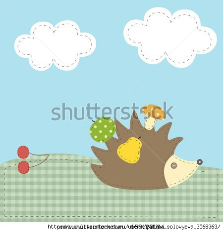 stock-vector-hedgehog-textile-applique-vector-illustration-150129194 (450x470, 78Kb)