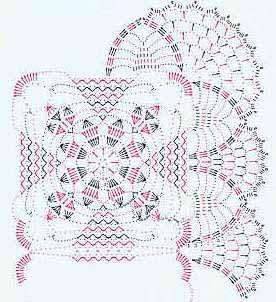 Вязанные крючком квадратные салфетки