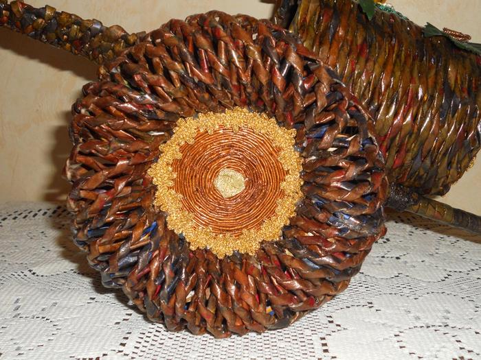 плетение из газетных трубочек. корзинки (15) (700x525, 550Kb)