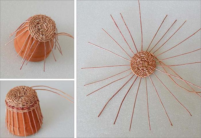 Плетение из нити. Корзинки (5) (700x482, 311Kb)