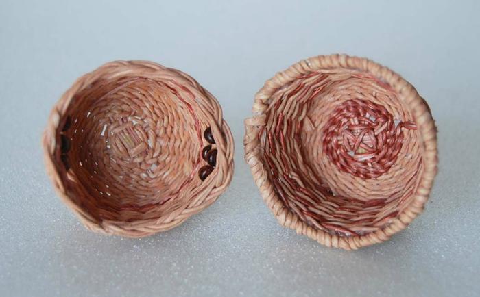 Плетение из нити. Корзинки (9) (700x434, 239Kb)