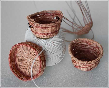 Плетение из нити. Корзинки (11) (450x363, 110Kb)