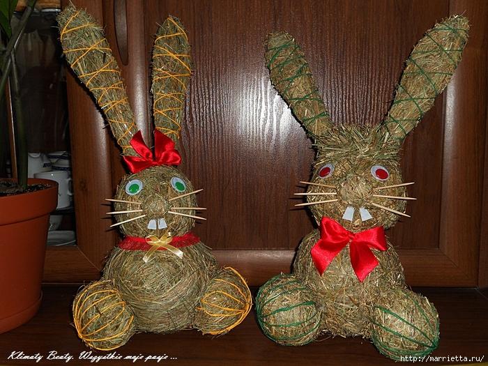 КРОЛИКИ из сена для кроликов. Мастер-класс (18) (700x525, 390Kb)