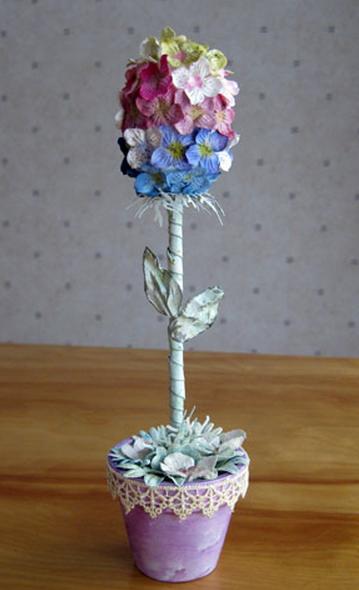 Пуговичный и цветочный пасхальный топиарий (15) (359x590, 404Kb)