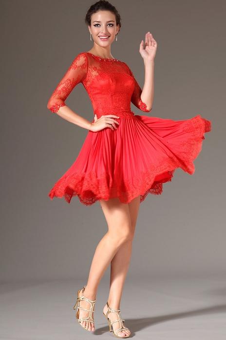 Пышные вечерние платья до колен фото