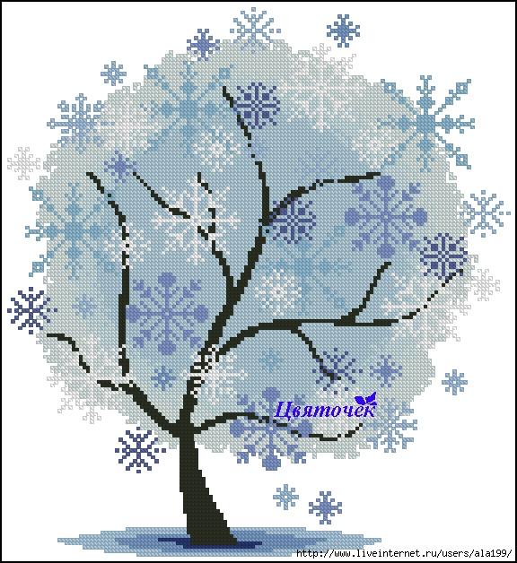 Зимнее дерево (576x628, 300Kb)