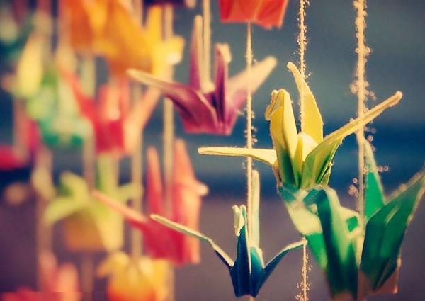 Оригами символ журавлик