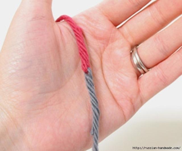 Полезное для вязания. Соединяем концы нитей без узлов (6) (640x531, 133Kb)