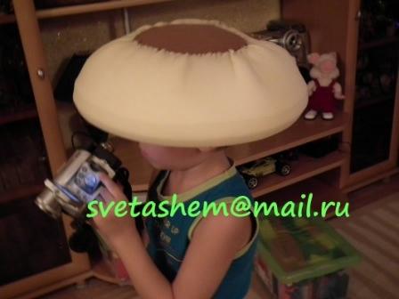 Как сделать шляпку для костюма гриба