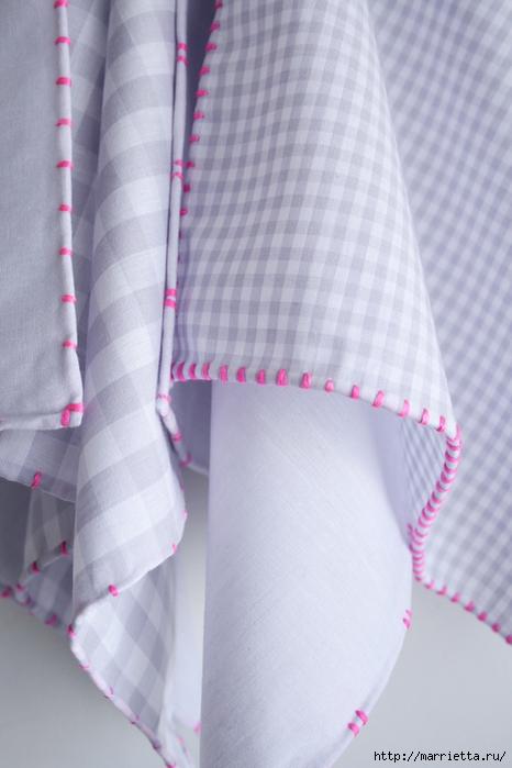 Обработка края кухонного полотенца, без швейной машинки (2) (466x700, 210Kb)