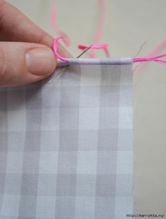 Обработка края кухонного полотенца, без швейной машинки (8) (528x700, 236Kb)