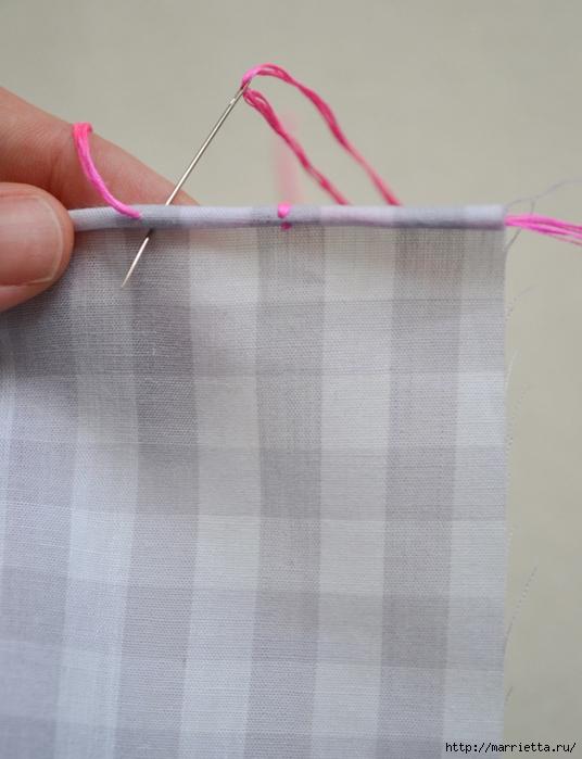 Обработка края кухонного полотенца, без швейной машинки (10) (536x700, 230Kb)