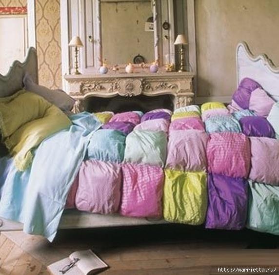 теплое одеяло пэчворк, выкройка (3) (572x563, 171Kb)
