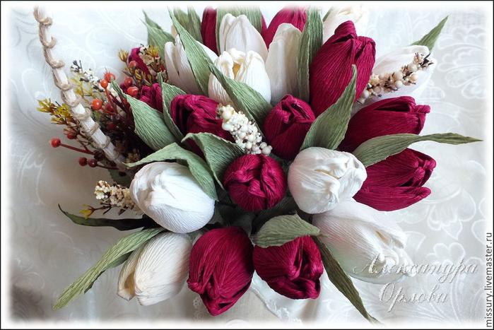 тюльпаны из бумаги (1) (700x467, 351Kb)