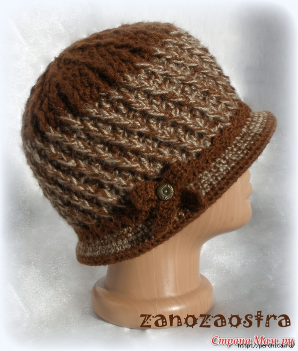 Вяжем шляпку крючком для женщин