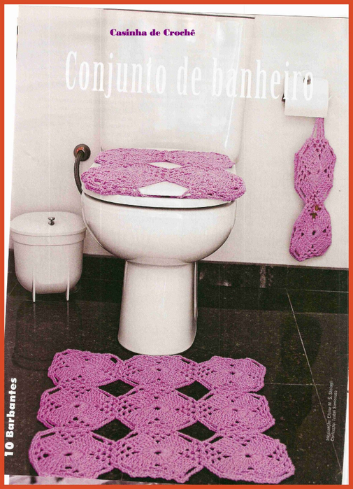 Коврики для ванной комнаты и схемы