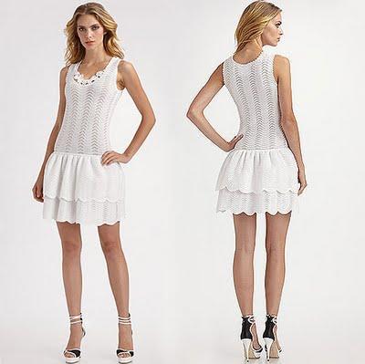 Oscar de la Renta - Crocheted Knit Drop Waist Dress (400x399, 24Kb)