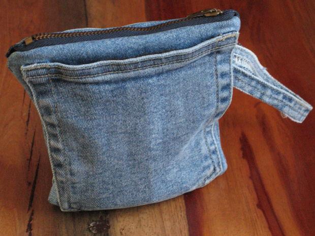 Сумка из карманов джинсов своими руками