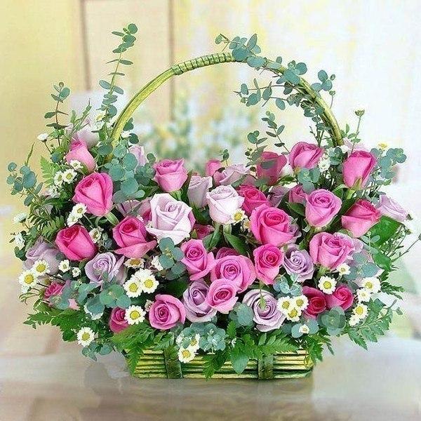 Поздравительные с цветами день рождения