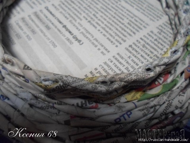 шкатулка из газет с розочками из бумаги (13) (640x480, 147Kb)
