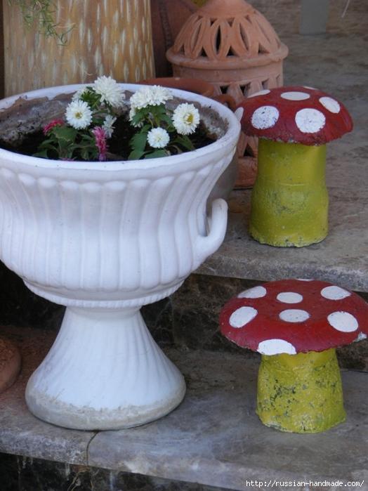 грибы из бетона для сада (6) (524x700, 255Kb)