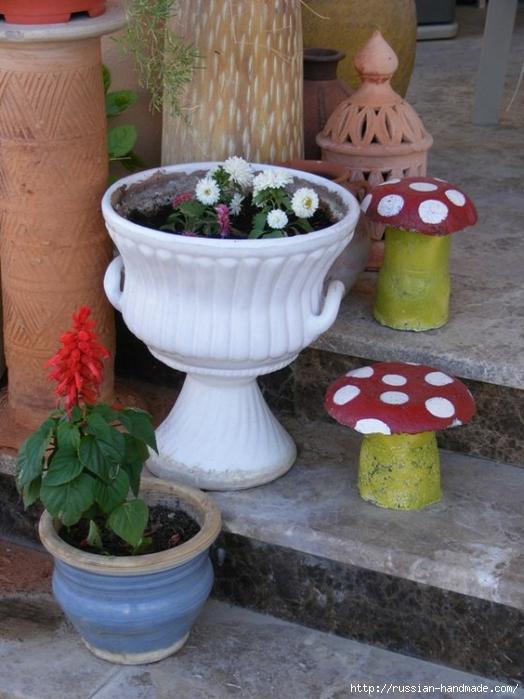 грибы из бетона для сада (8) (524x700, 260Kb)
