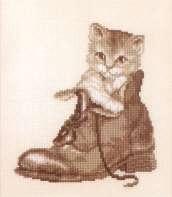 котенок в ботинке (172x197, 14Kb)