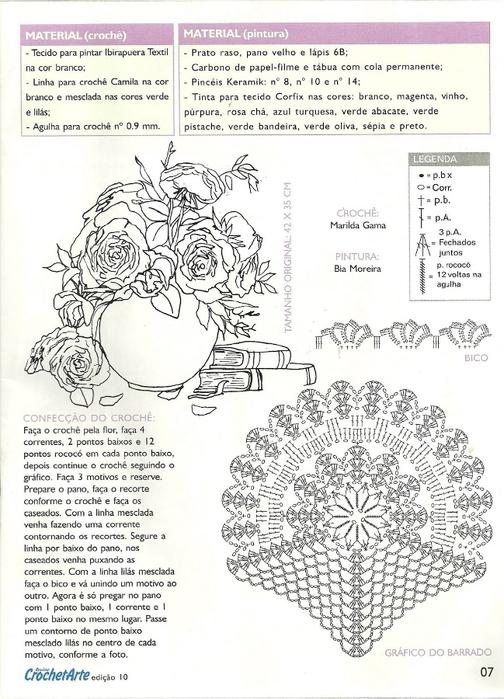 Роспись и обвязка крючком кухонных полотенец (2) (504x700, 316Kb)