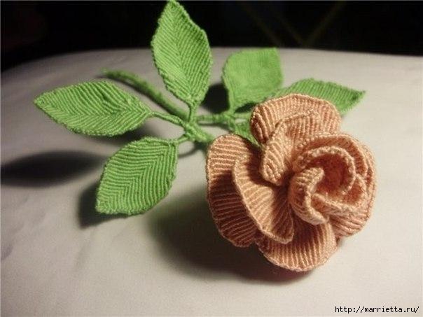 Цветы макраме.