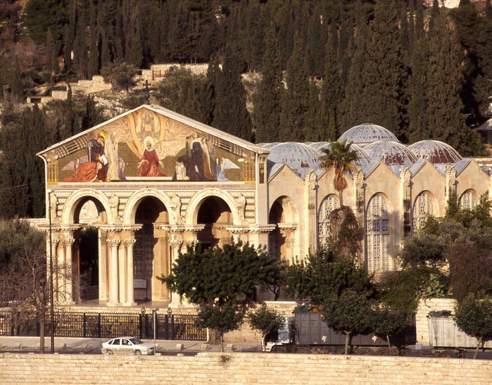 1551Jerusalem-Church-of-All-Nations-Catholic-in-Gethsemane-foot-of-Mount-of-Olives (700x547, 603Kb)