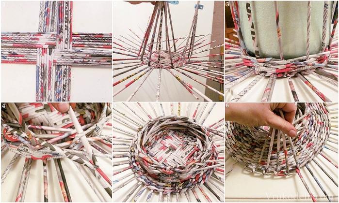 Плетение. Поднос для пасхальных яиц (1) (700x420, 288Kb)