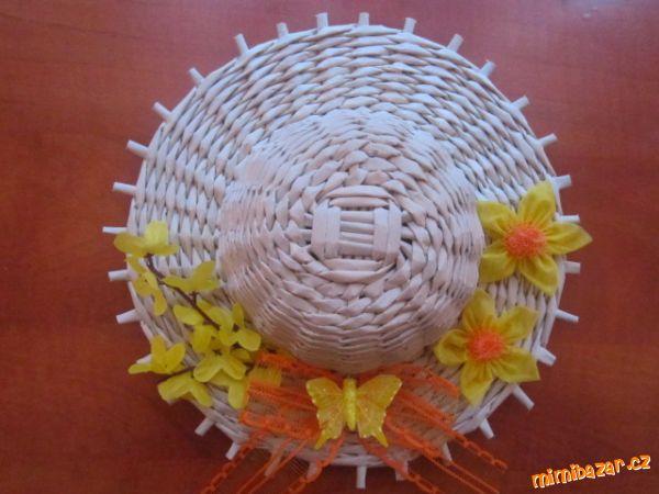 Как сплести шляпку из газетных трубочек. Мастер-класс (3) (600x450, 203Kb)