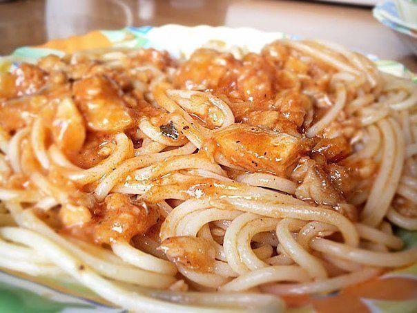 Спагетти с рыбой (604x453, 59Kb)