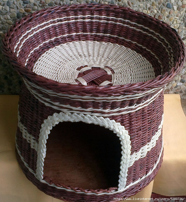 Корзинка плетеная из бумаги своими руками