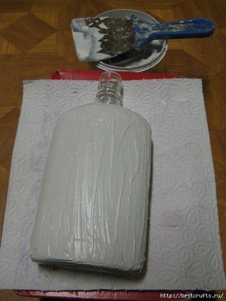Бутылка с кирпичной кладкой МК (2) (453x604, 134Kb)