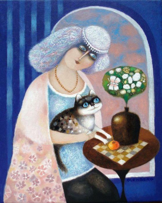 Dama con gata (559x700, 315Kb)
