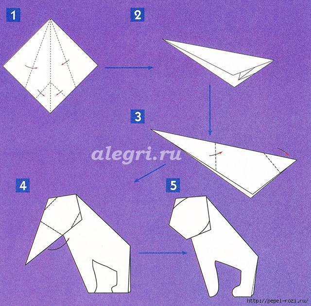 Обезьянка своими руками из бумаги оригами