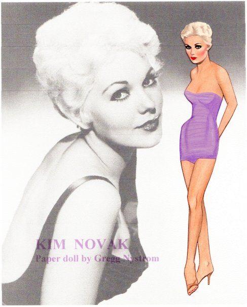 Kim Novak paper doll by Gregg Nystrom (487x604, 175Kb)
