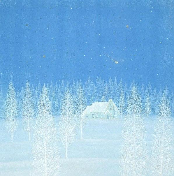 не могла пройти мимо зимняя нежность (597x604, 249Kb)