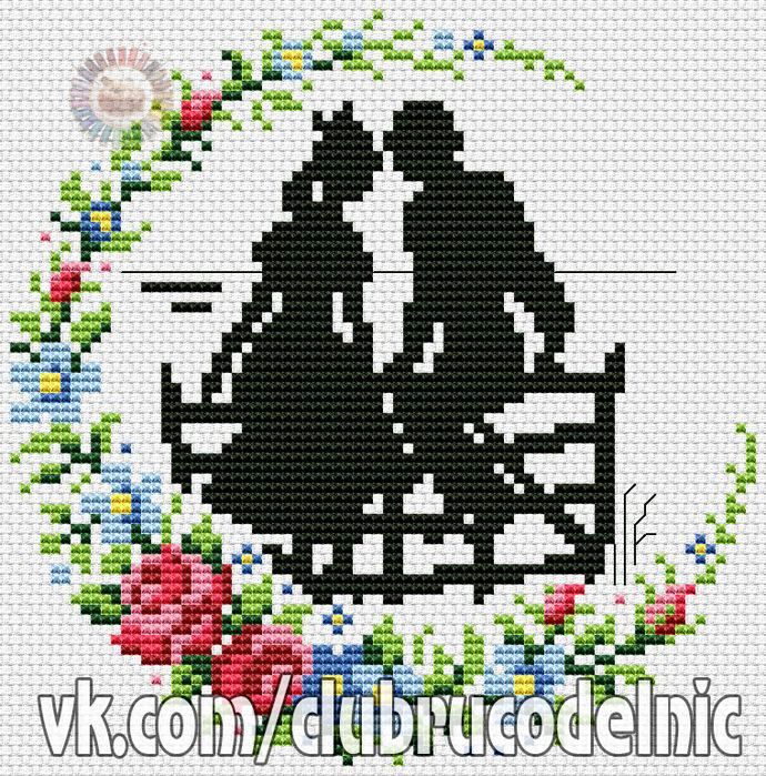 Floral Couple (690x700, 678Kb)
