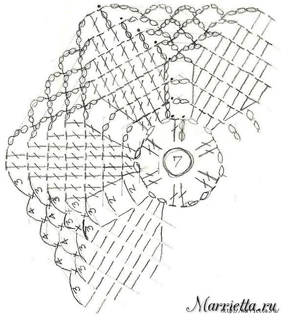 Вязание крючком. Плед из мотивов с обвязкой (5) (577x646, 247Kb)