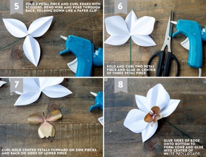 Орхидеи оригами схемы