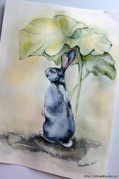 кролик Сулейман в лопухах от Shraddha (2) (466x700, 262Kb)