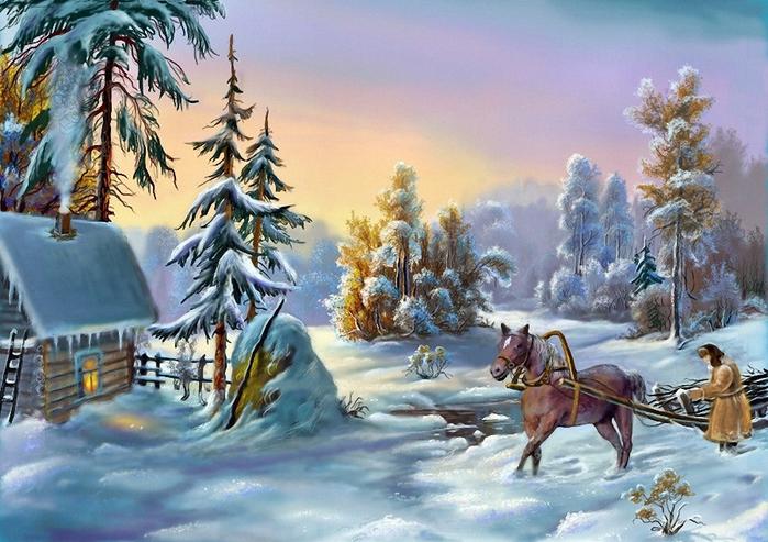 Зима (699x493, 426Kb)