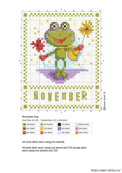 Детский календарь. Схемы вышивки крестом (5) (494x700, 198Kb)