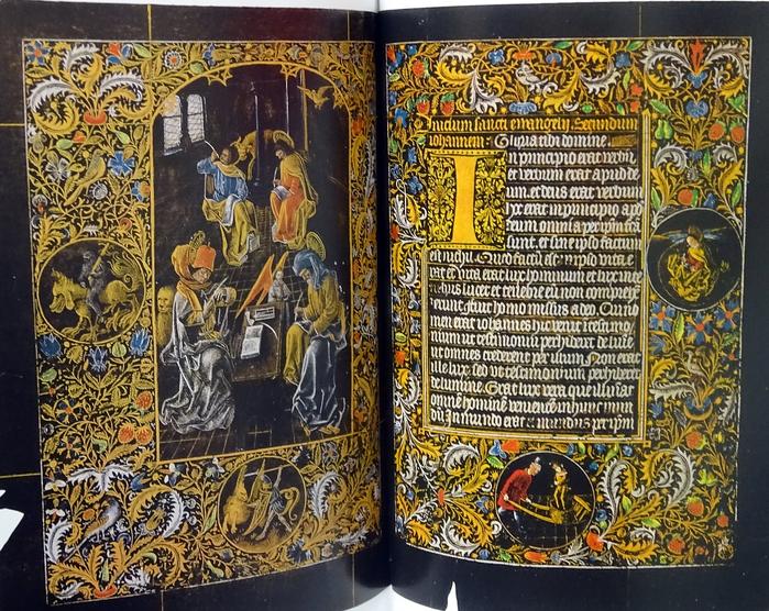Фото страницы Часослова Карла Смелого из Вены